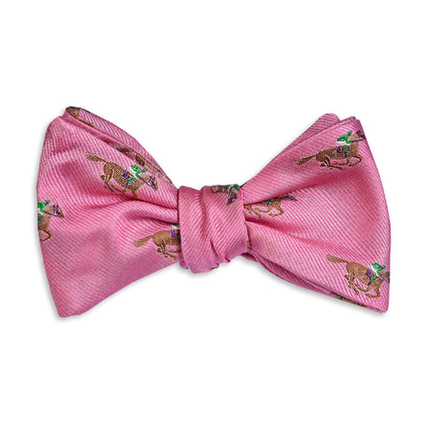 Cocky Jockey Bow Tie in Pink by High Cotton