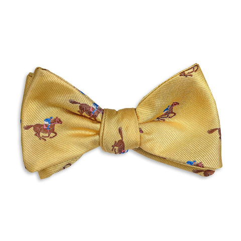 Cocky Jockey Bow Tie in Yellow by High Cotton