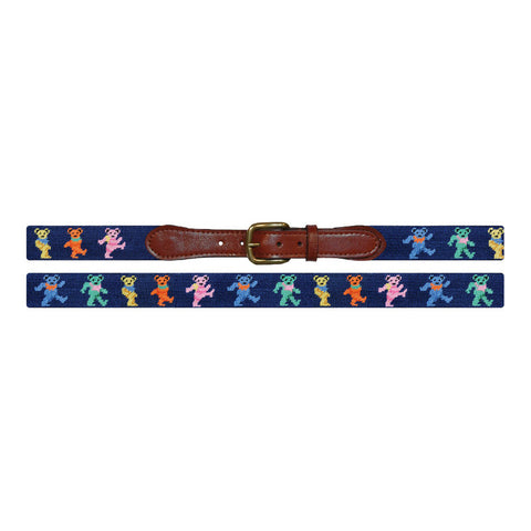 Dancing Bears Needlepoint Belt by Smathers & Branson