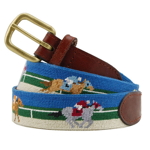 Derby Needlepoint Belt by Smathers & Branson