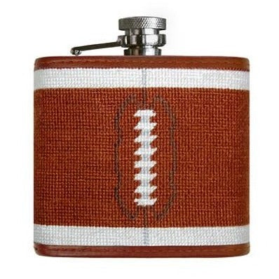 Football Needlepoint Flask by Smathers & Branson