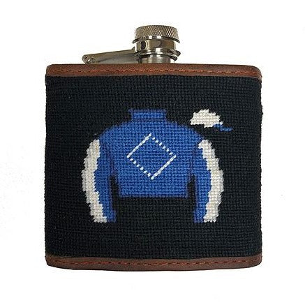 Derby Needlepoint Flask by Smathers & Branson