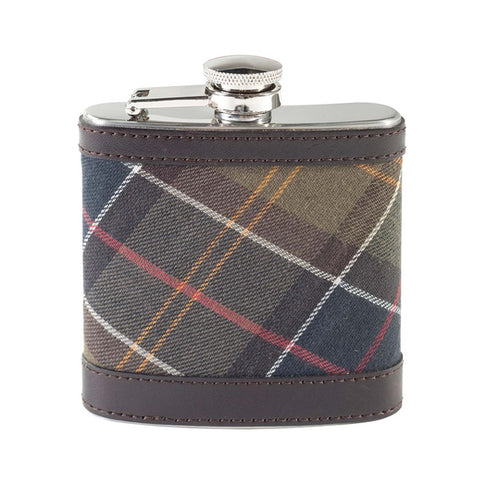 Hip Flask in Classic Tartan by Barbour