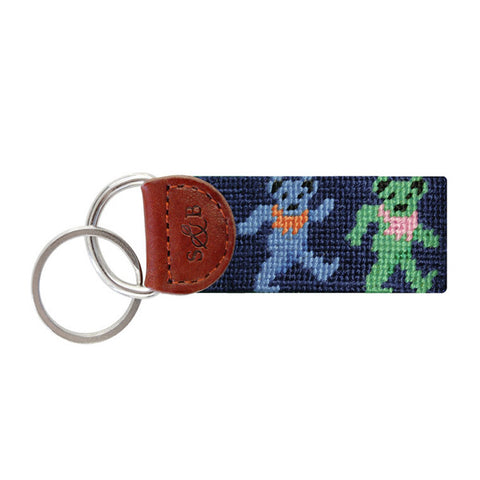 Dancing Bears Needlepoint Key Fob by Smathers & Branson
