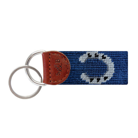 Horseshoe Needlepoint Key Fob by Smathers & Branson