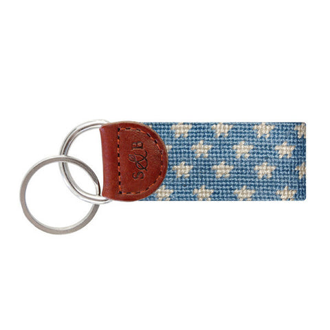 Stars and Stripes Needlepoint Key Fob by Smathers & Branson