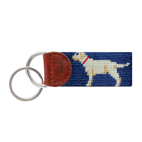 Yellow Lab Needlepoint Key Fob by Smathers & Branson