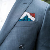 Greenwood Feather Pocket Square by Brackish