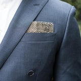 Guinea Feather Pocket Square by Brackish