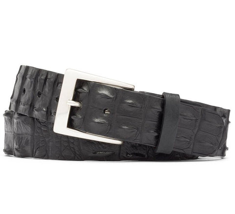 Hornback Crocodile Tail Belt With Nickel Buckle in 3 Colors by W.Kleinberg
