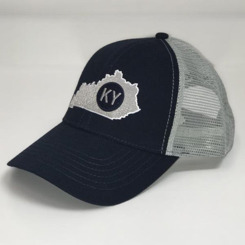 Kentucky State Trucker Hat in Navy by Logan's