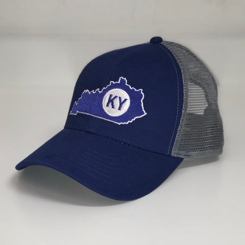 Kentucky State Trucker Hat in Blue by Logan's