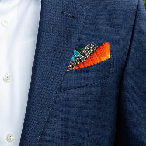 Ike Feather Pocket Square by Brackish