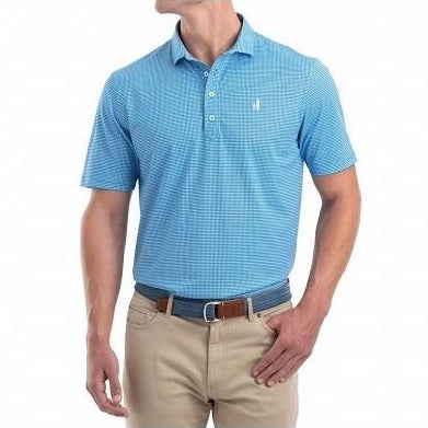 Herman Printed Pique Golf Polo in Riptide by Johnnie-O