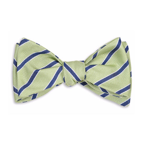 Julep Stripe Bow Tie in Mint by High Cotton