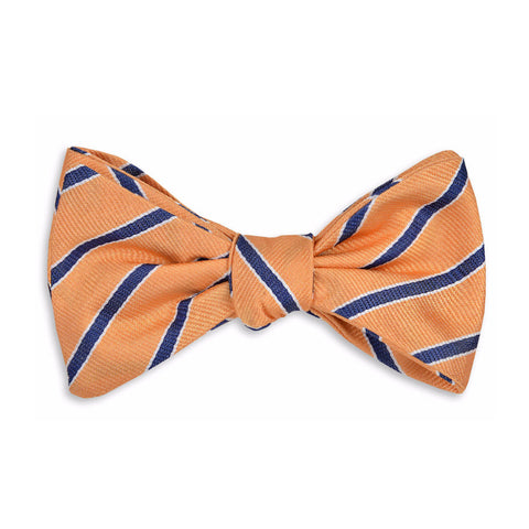 Julep Stripe Bow Tie in Orange Peel by High Cotton
