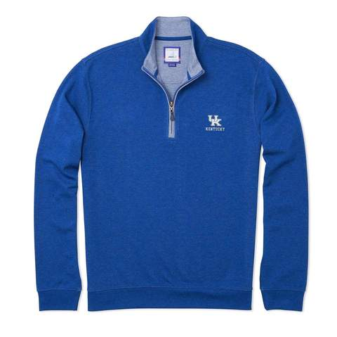 University of Kentucky Sully 1/4 Zip Pullover in 3 Colors by Johnnie-O