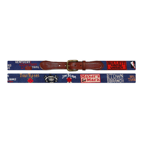 Kentucky Bourbon Trail Needlepoint Belt by Smathers & Branson