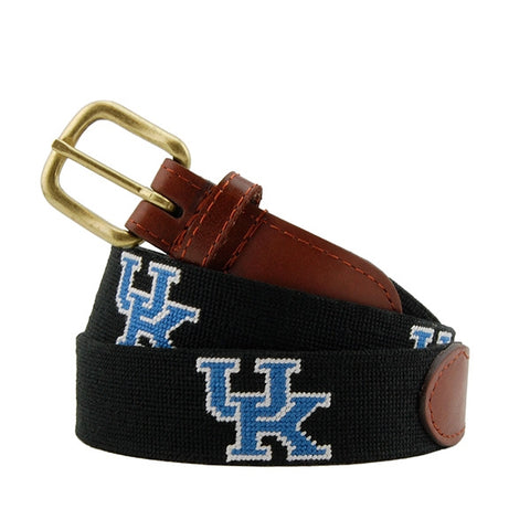 University of Kentucky Needlepoint Belt on Black by Smathers & Branson