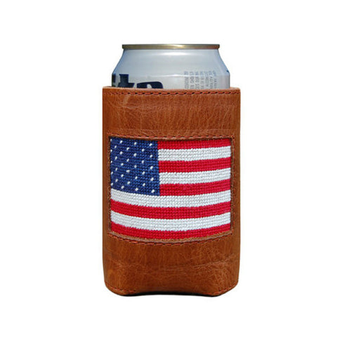 American Flag Needlepoint Koozie by Smathers & Branson