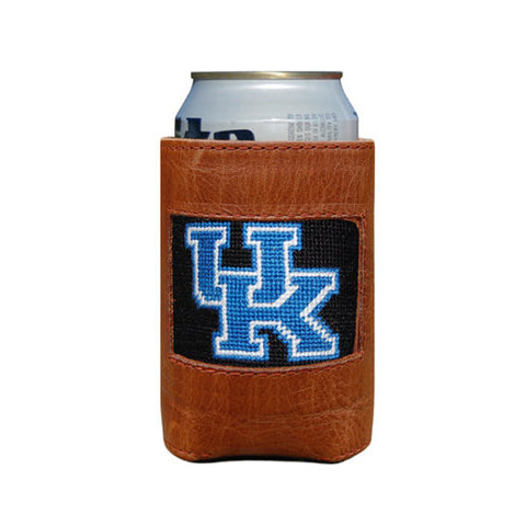 University of Kentucky Needlepoint Koozie in Black by Smathers & Branson