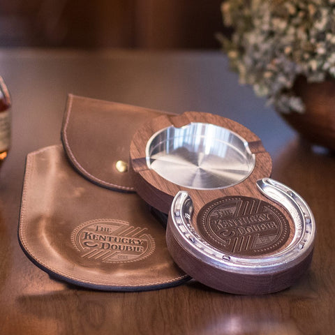 Kentucky Double Bourbon & Cigar Holder in Black Walnut by The Kentucky Double