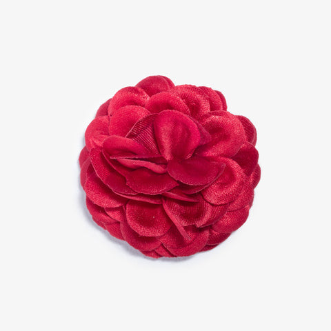 Red Large Lapel Flower by Hook & Albert