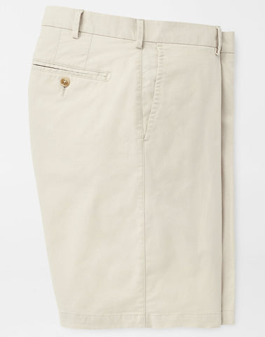 Soft Touch Twill Short in Stone by Peter Millar
