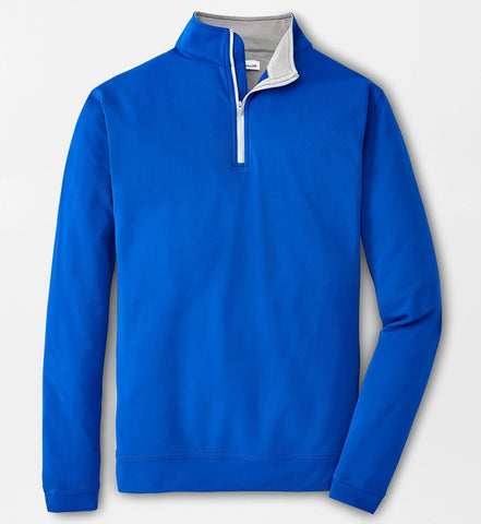 Perth Stretch Loop Terry Quarter-Zip in Royal Blue by Peter Millar