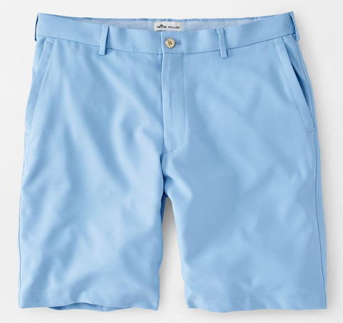 Salem High Drape Performance Short in Cottage Blue by Peter Millar
