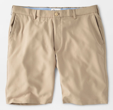 Salem High Drape Performance Short in Khaki by Peter Millar