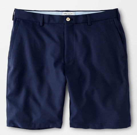 Salem High Drape Performance Short in Navy by Peter Millar