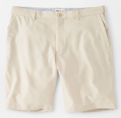 Salem High Drape Performance Short in Stone by Peter Millar