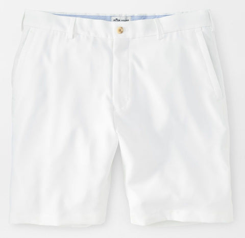Salem High Drape Performance Short in White by Peter Millar