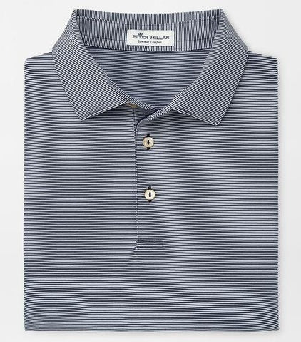 Jubilee Stripe Performance Polo in Navy by Peter Millar