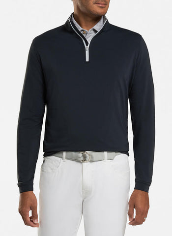 Perth Stretch Loop Terry Quarter-Zip in 2 Colors by Peter Millar