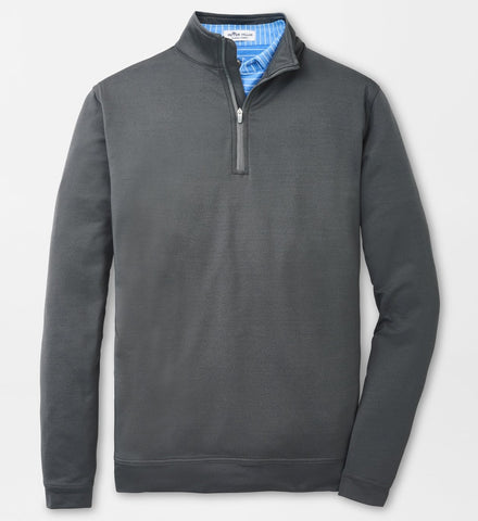 Melange Perth Performance Quarter-Zip in Iron by Peter Millar