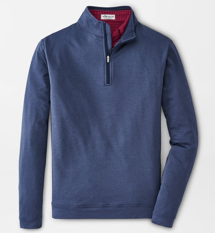 Melange Perth Performance Quarter-Zip in Navy by Peter Millar