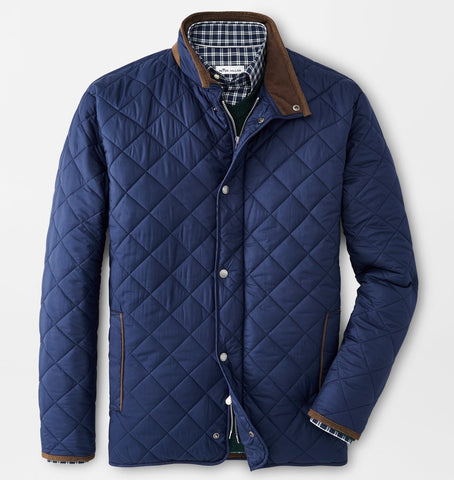Suffolk Quilted Travel Coat in Navy by Peter Millar