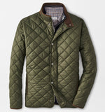 Suffolk Quilted Travel Coat in Olive by Peter Millar