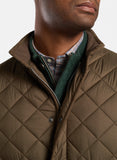 Essex Quilted Travel Vest in Carob Brown by Peter Millar