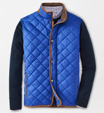 Essex Quilted Travel Vest in York Blue by Peter Millar