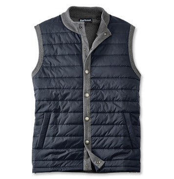 Essential Gilet in Mid Grey by Barbour