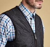 Polarquilt WaistCoat/Zip-In Liner in Black by Barbour