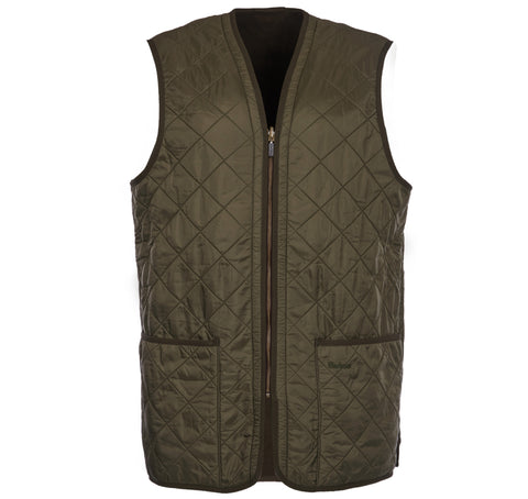 Polarquilt WaistCoat/Zip-In Liner in Olive by Barbour