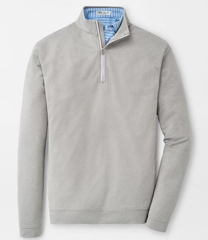 Melange Perth Performance Quarter-Zip in Gale Grey by Peter Millar