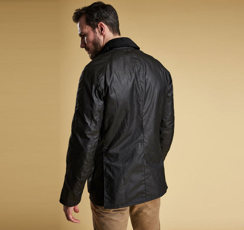 20e7a74e5 Ashby Wax Jacket in Black by Barbour