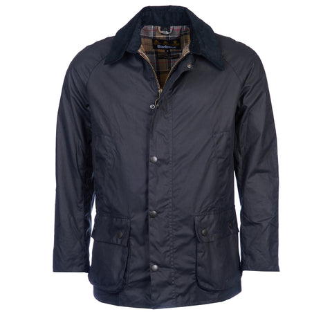 Ashby Wax Jacket in Navy by Barbour