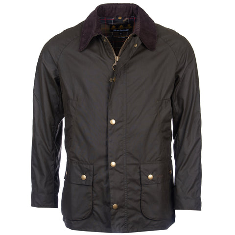 Ashby Wax Jacket in Olive by Barbour