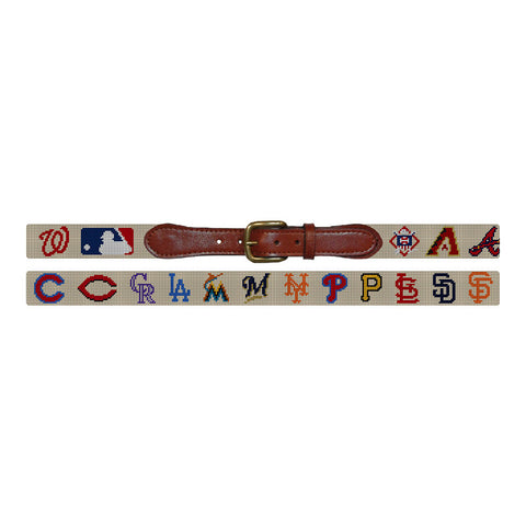 MLB National League Needlepoint Belt by Smathers & Branson